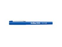Fiberpenna Artline 200 0,4mm blå 12st/fp