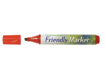 Märkpenna Friendly Marker snedskuren röd 10st/fp