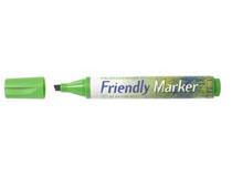 Märkpenna Friendly Marker snedskuren grön 10st/fp