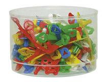 Provpåsklämma plast 48mm sorterade färger 90st/ask