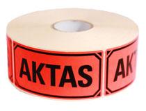 Etikett Aktas 100x50mm 1000st/rulle