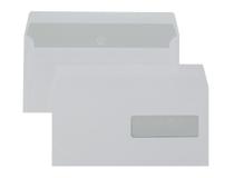 Fönsterkuvert E65 H2 vita täckremsa 500st/kartong
