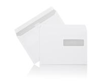 Fönsterkuvert C5 H2 vita självhäftande 500st/kartong
