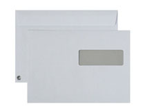 Fönsterkuvert C5 H2 vita SS täckremsa 500st/kartong