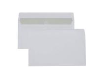 Kuvert E65 vita självhäftande 500st/kartong