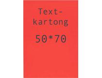 Kartong 50x70cm fluorescerande röd 10st/fp