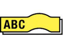 Märkband Brother TC-601 12mm svart/gul