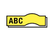 Märkband Dymo D1 flex 19mm svart/gul 5st/fp