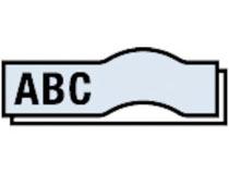 Märkband Dymo D1 19mm svart/klar
