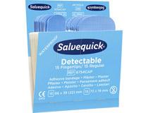 Plåsterrefill Salvequick 6754CAP Blue Detectable vanliga/fingertopp 6x30st/fp