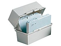 Kortlåda Cardo A6L ljusgrå 250 kort