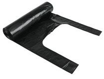 Sopsäck med handtag 125l svart 8st/rulle