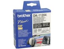 Etikett vit DK11204 54x17mm 400st/rulle