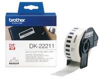 Etikett vit film DK22211 15mx29mm