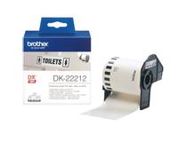 Etikett vit film DK22212 15mx62mm
