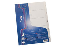Pärmregister Keba PP A4 1-5 transparent