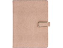 Dagbok konstläder med slejf rosa Melfi 2021