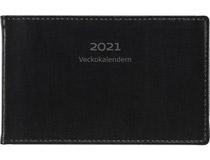 Veckokalendern skinn svart 2021