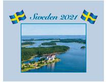 Väggkalender Sweden med kuvert 2021