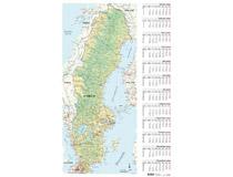 Väggblad med Sverigekarta 2021