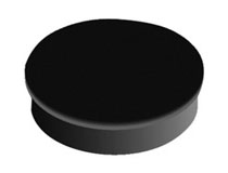 Magnet rund 30mm svart 6st/fp