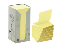 Z-block Post-it Recycled 76x76 gul 16st/fp