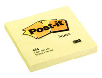 Post-it 654 76x76 gul 12st/fp