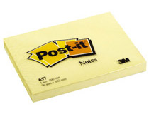 Post-it 657 76x102 gul 12st/fp