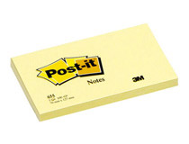 Post-it 655 76x127 gul 12st/fp