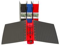 Pärm Keba Ecolite A4 55mm röd
