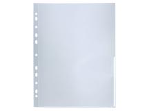 Signalficka A4 PP 0,12 vit präglad 100st/fp