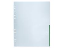 Signalficka A4 PP 0,12 grön präglad 100st/fp