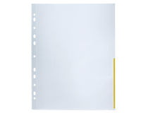 Signalficka A4 PP 0,12 gul präglad 100st/fp