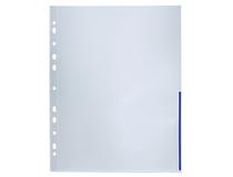 Signalficka A4 PP 0,12 blå präglad 100st/fp