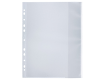 Signalficka A4 PP 0,14 vit glasklar 100st/fp