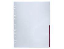 Signalficka A4 PP 0,12 röd präglad 100st/fp