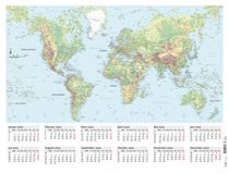 Väggblad med världskarta 2021