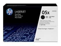 Toner HP CE505XD 2x6,5k svart 2st/fp