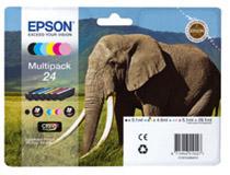Bläckpatron Epson T2428 6st/fp