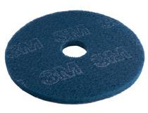 "3M Scotch-Brite rondell 16"" blå 5st/fp"