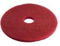"3M Scotch-Brite rondell 10"" röd 5st/fp"