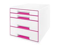 Förvaringsbox Leitz WOW vit/rosa