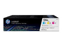 Toner HP 126A C/M/Y 3-pack