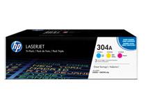 Toner HP 304A C/M/Y 3-pack