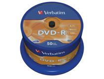 Verbatim DVD-R 16x Cake Box 50st/fp