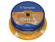 Verbatim DVD-R 16x Cake Box 25st/fp