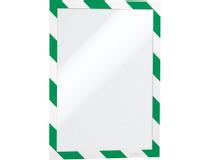 Säkerhetsram Duraframe Security A4 grön/vit 2st/fp
