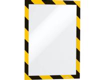 Säkerhetsram Duraframe Security A4 gul/svart 2st/fp