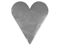 Etikett hjärta stort silver 15x1000st/rl