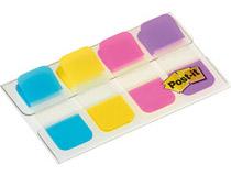 Märkflikar Post-it Index 676 Strong blå, gul, rosa, lila 40st/fp